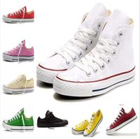 Wholesale men shoes style star - 15 Color New style big Size 35-46 High top Casual Shoes Low top Style sports stars Classic Canvas Shoe Sneakers Men\'s Women\'s Canvas Shoes