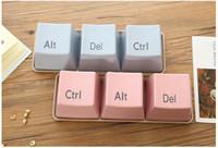 ingrosso tè della tastiera-3 pz / lotto pp creativo forma della tastiera tazze da tè caffè Noverty semplice tastiera Ctrl Alt Del Tipo tazza spuntino conotainer piatto migliore articolo di famiglia