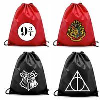 Wholesale drawstring packaging resale online - 4 design harry potter Drawstring bag Travel Package Storage Organizer Drawstring Bag Cartoon Harry Potter Pouch KKA5752
