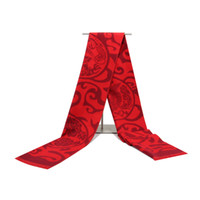 Wholesale China Shawls Wholesale - Gift Company Annual Meeting Tassels Shawl Autumn Winter Men And Women Adult Red Scarf China Style Embroidery Scarves For Women