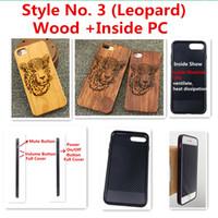 léopard iphone 5s achat en gros de-Style No. 3 (Léopard) Noyer Merisier Rose Bois d'érable Bois Bois Bambou TPU Coque de protection arrière pour iPhone X 8 7 6S 6 Plus 5 5S SE