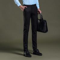 01da074894c 2017 Mens Dress Pants Formal Pants Slim Fit Wedding Men Black Suit Business  Casual Mens Dress Trousers Perfume Masculino