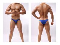 sexy strandbekleidung für männer großhandel-Sommer Sexy Bikini Slip Unterwäsche Herren Bikini Slip Badehose Beach Wear Schwarz Plus Size M-XL