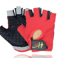 Wholesale rock cycling resale online - Men And Women Bodybuilding Half Finger Gloves Cycling Rock Climbing Outdoor Skidding Ventilation Bicycle Sunscreen Training Glove rh ii