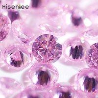 piedras brillantes claras al por mayor-6 MM 100 UNIDS Moda 3D Clear Charm Zirconia Cúbico Piedras Brillante Forma de Punta Redonda Clásica Crystal Craft Accesorios Decoración
