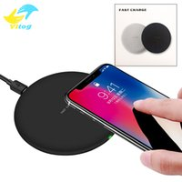 Wholesale eu charger 5v iphone online - For Iphone X XR XS Max V A V A Fast Quick Qi Charger wireless charger charging For Samsung Galaxy S9 Plus Note with Package