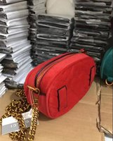 Wholesale Heart Shaped Red Handbag - new 2018 Marmont shoulder bags women luxury brand Suede Velvet chain crossbody bag handbags famous designer purse high quality female bag