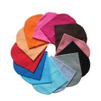 bebek pamuğu beanie şapkaları toptan satış-10 Adet / 1 Grup Şeker Renkler Fit Için 7 M-3 Yıl Eski yürümeye başlayan Erkek Bebek Kız Pamuk Sıcak Yumuşak Tığ Sevimli Şapka Kap Beanie Maliyeti Ucuz toptan