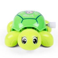 löst spielzeug großhandel-Nette Uhrwerk-Schildkröte-Karikatur-Tierschildkröten-Baby-Spielwaren-Kind-kriechendes wickeln herauf Spielzeug-pädagogische Kinderklassisches Spielzeug-gelegentliche Farbe