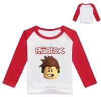 çocuklar t gömlek model toptan satış-2-12Years Bobo childen Choses Karikatür T Shirt Çocuk Jeresy Boys Uzun Kollu Tişört Genç Kız Giyim Butik Üst Modeli Moda