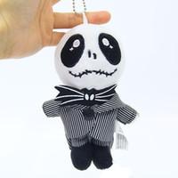 Wholesale black skull pendants resale online - Jack Toy Hanger Christmas Devil Night JACK Charm Black and White Devil Skull Vampire Plush Doll Pendant H037