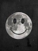 """pinturas de cocoteros al por mayor-Sin marco / Alec Monopoly """"Happy Moon"""", HD Canvas Print arte de la pared decoración de la pintura, cultura del arte de la oficina"""