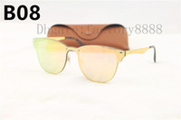 Wholesale orange box design - High Quailty Newest Hot sale Unisex 3576 Sunglasses Men 2018 Brand Rivets Metal Design Mirror Sunglasses Women Eyewear UV400 With Box,Case