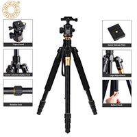videokamera schnellspanner großhandel-QZSD Q999 62,2 Zoll Kamera Video Stativ Einbeinstativ Für SLR Kamera mit Schnellwechselplatte Tragende 18KG DHL für Moss Land