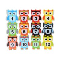 Wholesale blocks shapes toys for sale - Wooden Owl Shaped Intelligence Funny Balance Building Block Toys Baby Learning Early Education Toy Bricks cw W