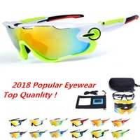 Wholesale Men Cycling Sunglasses - 2018 Polarized Brand Cycling Sunglasses Racing Sport Cycling Glasses Mountain Bike Goggles Interchangeable 3 Lens Jawbreaker Cycling Eyewear
