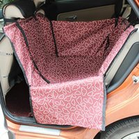 Wholesale dog back seat hammock - Cheap mat Foldable Waterproof Carriers Rear Back Pet Dog Car Seat Cover Mats Hammock Protector With Safety Belt