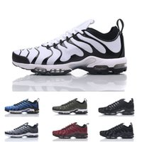 Wholesale Fall Color Trends - 2018 Vapormax TN Plus Mens Running Shoes New Color Black silver grey Wine red White Boots Leisure Trend Trainers Discount Sneakers