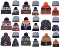 en iyi örme şapkalar toptan satış-Sıcak Satış Chicago Ayılar Beanies Khalil Mack Mitch Trubisky En İyi Kalite Dikişli Örgü Şapkalar Tüm Ekipleri Karışık kış Örme Caps