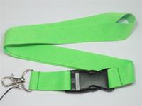 Wholesale Metal Hangers Wholesale - 10Pcs Keychain ID Card Neckstraps With Metal Clip Super Me Cellphone Lanyard Straps Charm Multi Color Keychain Straps ID Hanger