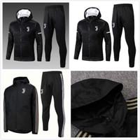 Wholesale Juventus soccer jacket tracksuit football jackets kits juve soccer tracksuit RONALDO Sweatshirt Jogging training suit