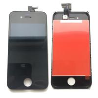 iphone 4s branco lcd digitalizador tela venda por atacado-NOVA Grau de Teste A +++ Tianma Display LCD Digitador Da Tela de Toque Para A Apple iPhone 4S Preto Branco Com Classe Temperada DHL logística