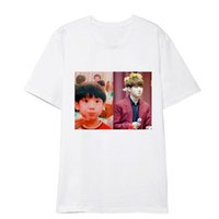 emoticon kleidung großhandel-ONGSEONG Kpop MÖCHTE EINE BTS V Emoticon Paket Album Shirts Hip Hop Lose Kleidung T-shirt T-shirt Kurzarm Tops T-shirt DX773
