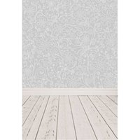 Wholesale Damask Photography Background - Digital Printed Floral Damask Photography Backdrops Wallpaper Vinyl Baby Newborn Photo Props Kids Photographic Backgrounds Wooden Floor