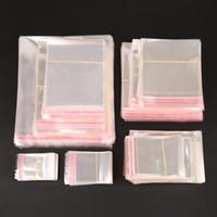 klare plastikbeutelbeutel großhandel-Aufbewahrungsbeutel Klar Selbstklebende Siegel Kunststoffverpackungsbeutel Wiederverschließbare Zellophan OPP Polybeutel Geschenkbeutel