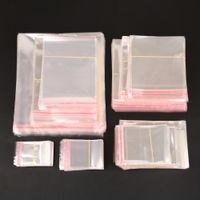 Wholesale self sealing packaging bags resale online - Storage Bags Clear Self Adhesive Seal Plastic Packaging Bag Resealable Cellophane OPP Poly Bags Gift Bags
