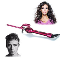 Wholesale Hair Curlers Japan - 9mm Iron Curler Ceramic Hair Iron Curler Deep Curly Hair Styler Persional Using Curling Iron