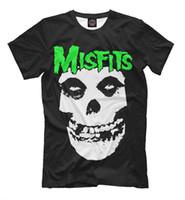ingrosso vestiti di musica rock-T-shirt Misfits - leggendario gruppo punk rock americano stars tee vestiti di musica jurney Stampa t-shirt Brand camicie jeans Stampa