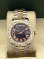bracelet diamants saphir achat en gros de-2018 top qualité montres hommes Stabilisé mouvement de mouette Sapphire Diamond case Bracelet en acier inoxydable hommes marque des hommes