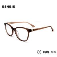 063ab9f196b ESNBIE Acetate Eye Glasses Frame for Women Luxury Diamond Women s Prescription  Eyewear Myopia Frame Reading Glasses Clear Lens