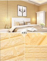 Wholesale Television Background Walls Sticker DIY Self Adhesive Foam D Wall Stickers Waterproof Home Decor Colorful Small as cc