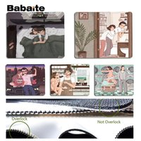 Wholesale life size silicone - Babaite Beautiful Anime Couple life hand drawing Silicone Pad to Mouse Game Size for 180x220x2mm and 250x290x2mm Mouse Pad