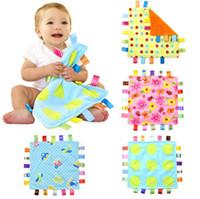 baby bunte handtücher groihandel-Neues Säuglingsgefühl befrieden die Decke Karikatur-buntes Baby-Tuch-Neugeborene beschwichtig 8 Arten