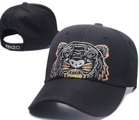 Wholesale hat - 2018 Designer Mens Baseball Caps New Brand Tiger Head Hats Gold Embroidered bone Men Women casquette Sun Hat gorras Sports Cap Drop Shipping