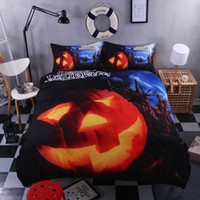 Wholesale foreign bedding for sale - Halloween Witch Pumpkin Light Foreign Trade D Bedding Halloween Four Pieces per set festival gift bedding set