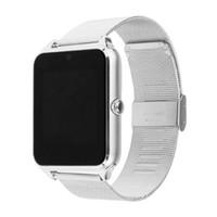 bluetooth stück großhandel-einteilige Smart Watch Z60 GT08S Uhr mit FM-SIM-Kartensteckplatz Push-Nachricht Bluetooth-Verbindung Android Phone Smartwatch-Legierung Smartwatch