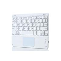 onglet clavier pouce achat en gros de-Clavier Bluetooth sans fil ultra-mince de Windows de 10 pouces mini avec le panneau de Touch Pad pour Samsung Tab Microsoft
