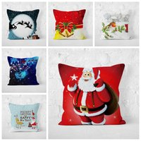 Wholesale claus case for sale - Group buy Christmas Pillowcases cm Santa Claus Tree Pillow Cover Cushion Cover Decor Pillow Case Styles Christmas Decor MMA1064