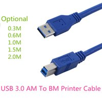 Wholesale printer data - Fast Free Shipping High Speed Data Extension Cable USB 3.0 AM To BM Printer Cable Data Transfer Sync Cable for Printer