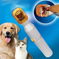 Wholesale grooming kit dogs - Pet Dog Cat Nail Trimmer Grooming Tool Care Grinder Electric Clipper Kit Dog Grooming FFA329 100PCS