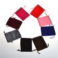 pequenos sacos de corda de casamento venda por atacado-Flanela 7 * 9 CM Mini Bolsa de Juta Saco de Linho Cânhamo Pequeno Sacos de Cordão Anel Colar de Jóias Bolsas de Casamento Favores Do Presente Embalagem