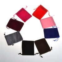 bolsas de lino mini al por mayor-Franela 7 * 9 CM Mini bolsa de yute bolsa de cáñamo de lino pequeños bolsos de lazo collar de la joyería bolsas favores de la boda embalaje de regalo