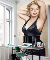 ingrosso marilyn monroe murale-3d wallpaper foto personalizzata Dipinto a mano Portico di Marilyn Monroe Sfondo muro Home miglioramento 3d murales carta da parati per soggiorno