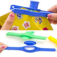 Wholesale kids kitchen tools online - Bag Clip Kitchen Sealer Reusable Kid Powder Package Nozzle Kitchen Tool Snack Powder Food Tube Sealing Clip DDA536