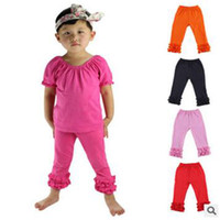 72fcbdd5071 Baby Clothes Girls Ruffe Pants Kids Solid PP Pants Child Cotton Fashion Leggings  Girl Candy Tights Trousers Korean Styles 10 Colors YL13
