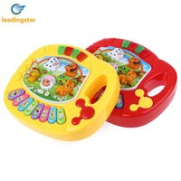 nutztiere für kinderspielzeug großhandel-LeadingStar Baby Kids Batteriebetriebene Animal Farm Piano Entwicklungsspielzeug Pädagogisches Spielzeug Kinder Geschenk ZK25